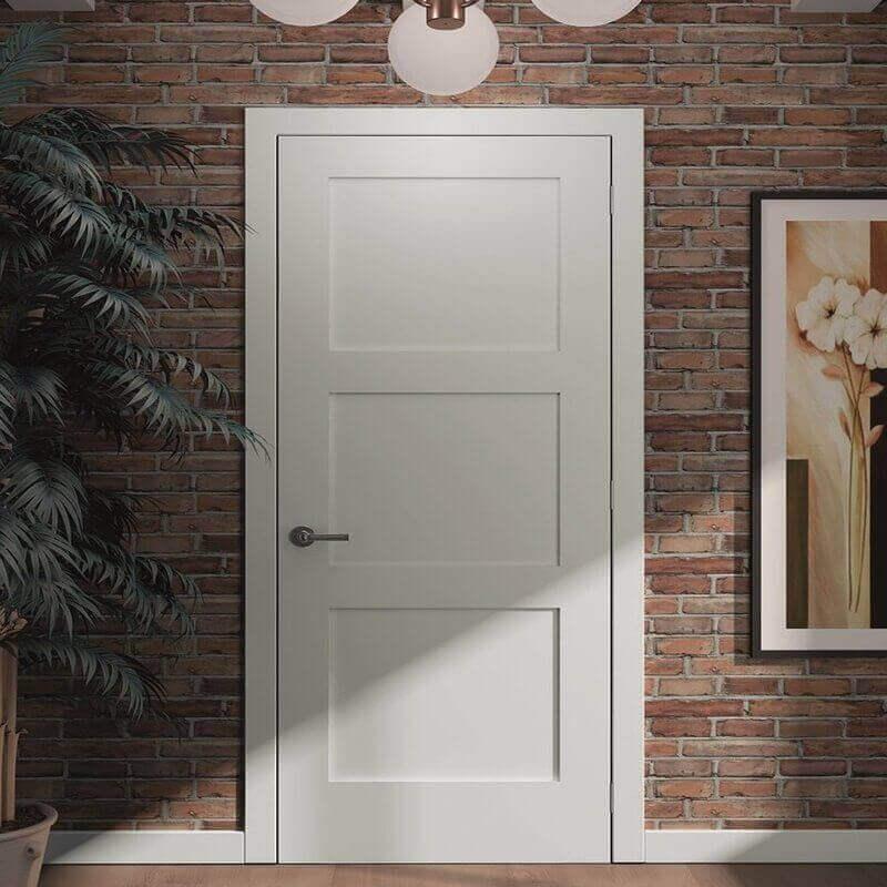 Интериорна врата цвят снежно бяло