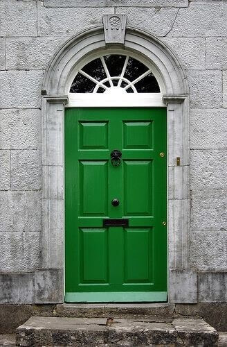 Зелена входна врата